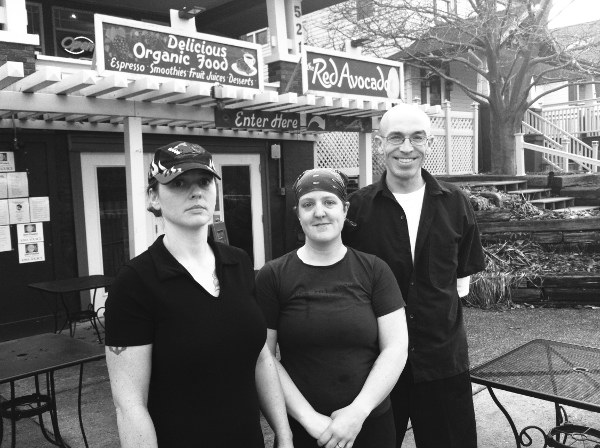 Rachael Langin, Katy Meyer and David Burt