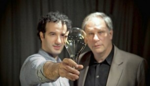 Jad Abumrad, left, and Robert Krulwich host the NPR radio show, Radio Lab. Credit: MarcoAntonio.com