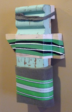 "Color Café Jeff Robinsons' ""Green Totem"" now on view at The Times Club."