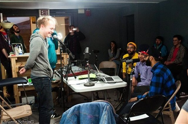 PS1 has served as a remote studio for KRUI. Here, Das Racist vistits the 2011 PS1 Mission Creek Lounge