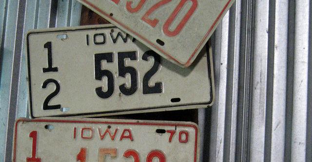 Iowa license plate debate