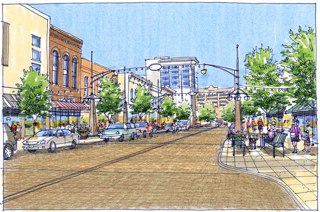 Dubuque Street during the day