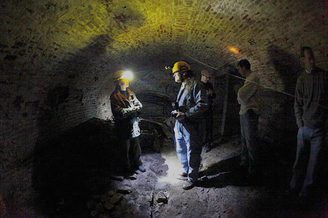 iowa citys extensive network  beer caves ice caves tunnels    village
