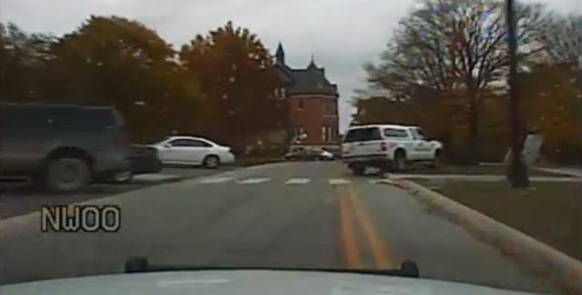 Dash cam footage captures the pursuit