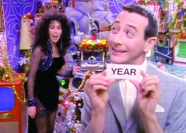 """Today's secret word is, 'year!' Now, you all know what to do when anyone says the secret word, right Cher?"" -- Pee-Wee"