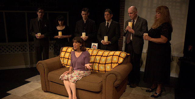 Dragon Theatre Productions perform Becky's New Car in 2013 -- photo by James Kasyan