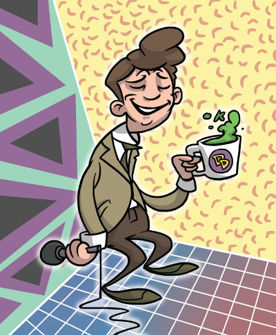 Marc Summers circa the Double Dare days. -- illustration by Ben Mackey