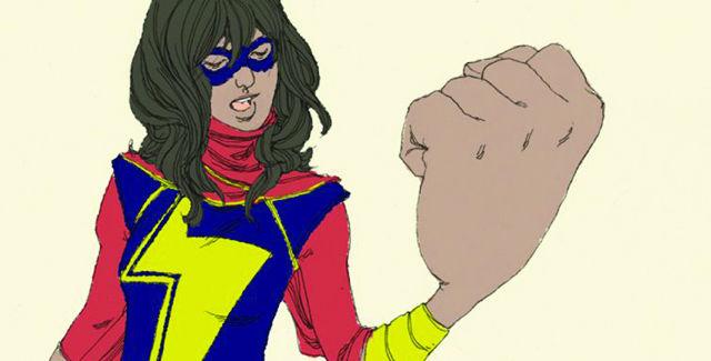 The New Ms. Marvel: Pakistani-American Kamala Khan kicks ass. -- photo courtesy of Marvel