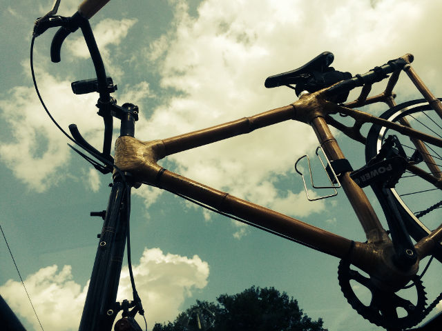 Witness the bamboo bike in all its glory!