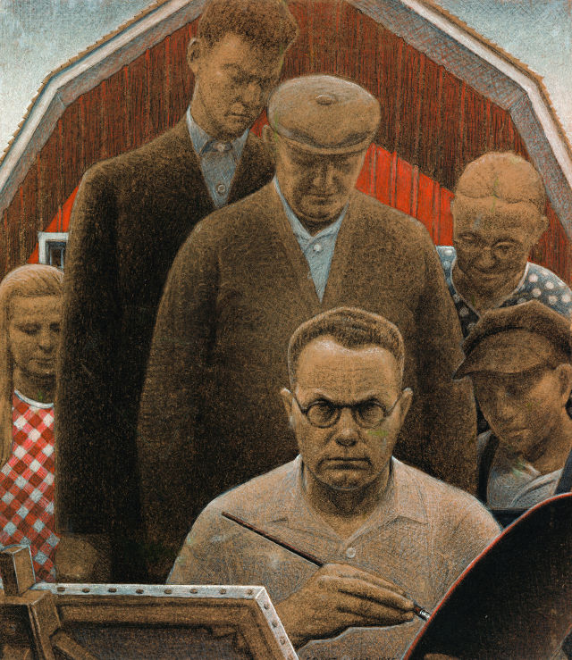 """Return from Bohemia"" by Grant Wood -- image courtesy of the Figge Art Museum"