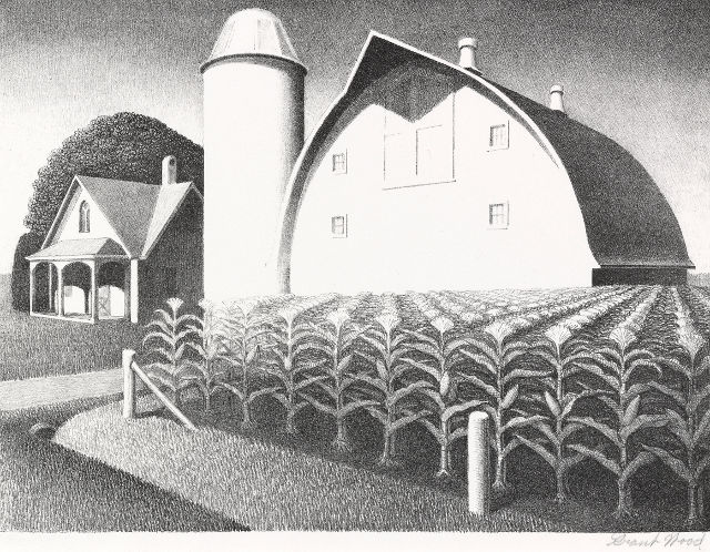 Fertility, a painting by Grant Wood. -- image courtesy of the Figge Art Museum