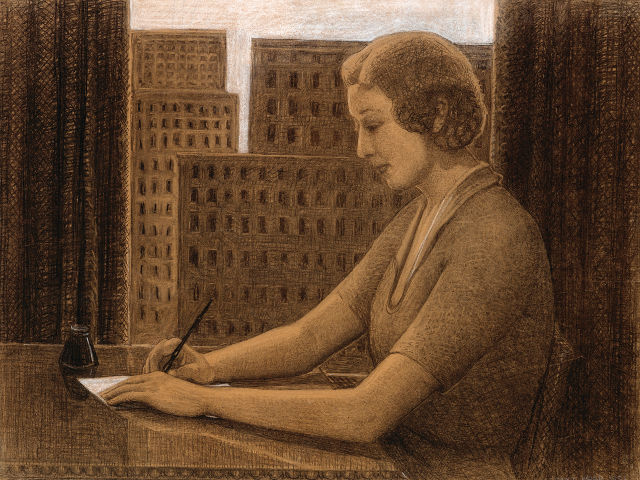 Grant Wood's History of Penmanship: Modern Method of Writing -- image courtesy of the Figge Art Museum
