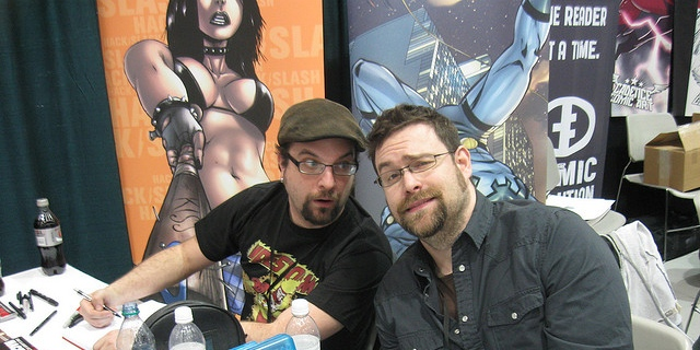 Mike Norton (right) is one of the special guests at Mid Con this weekend. -- Photo by Pat Lokia