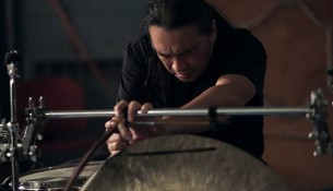 Experimental percussionist performs at PS1 - Photo courtesy of Jon Graf