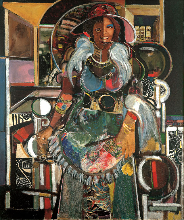 """Jazz Singer, Lady of Leisure"" by David Driskell -- image courtesy of the Figge Art Museum"