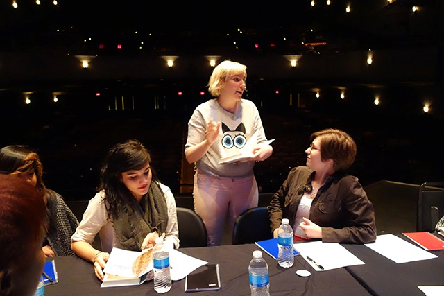 Lena Dunham talked with Tate High School students about why writing was important to them.