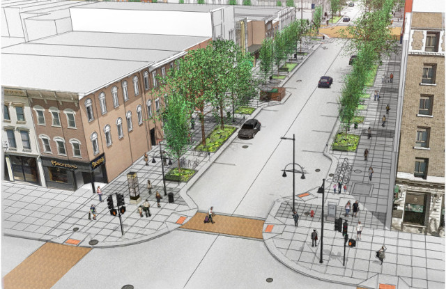 Downtown Clinton Street -- image courtesy of the City of Iowa City