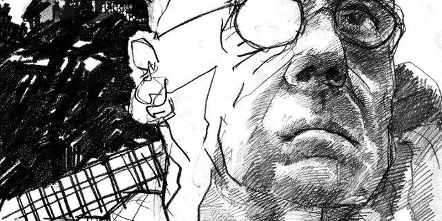 James Ellroy -- Illustration by Jacob Yeates