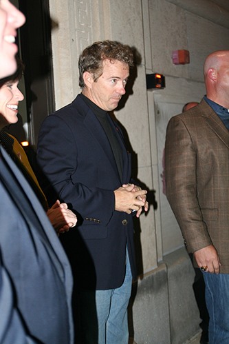 Rand Paul accompanied Ernst at Wednesday's event.