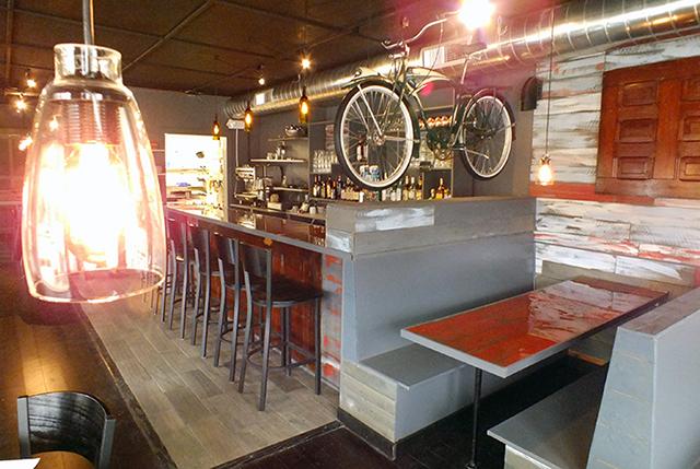 Newest Iowa City restaurant as a bike theme. -- photo by Adam Burke