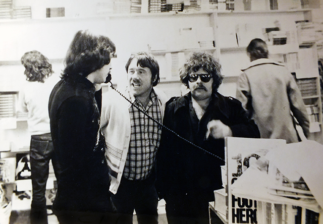 David Morice, left, with Glen and Harry Epstein, 1974  — submitted photo