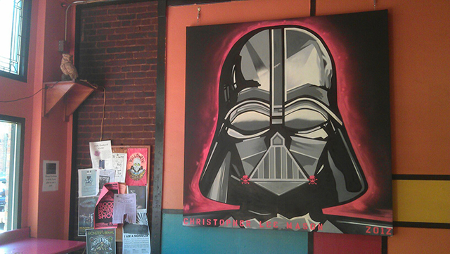 Chris Mason's painting of Darth Vader -- submitted photo