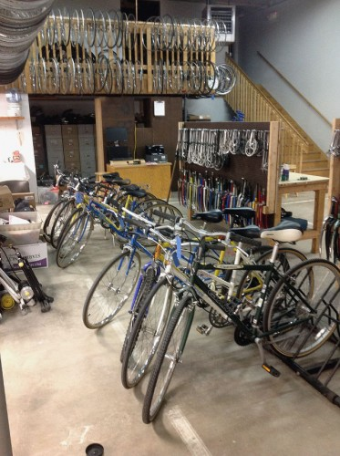The new Iowa City Bike Library location is located at 840 South Capitol St. -- photo courtesy of Anne Duggan
