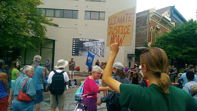The Great March for Climate Action came to Iowa City on August 20, 2014  -- photo by Drew Bulman