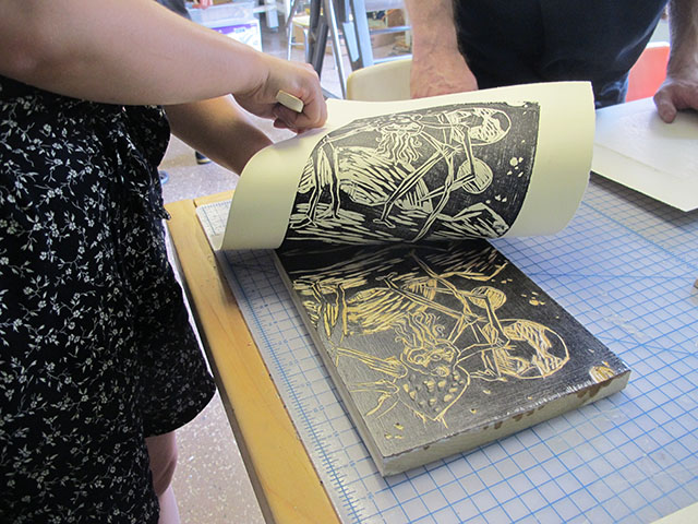 IC Press Co-op will offer printmaking classes in its new space, which organizers hope to open this summer. -- photo by John Englebrecht