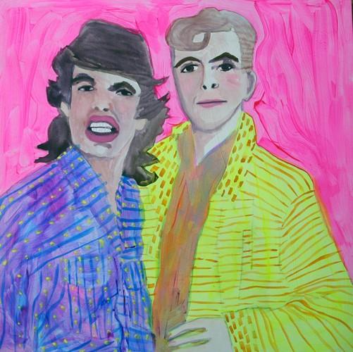 Bowgger  -- painting by Ramona Muse Lambert