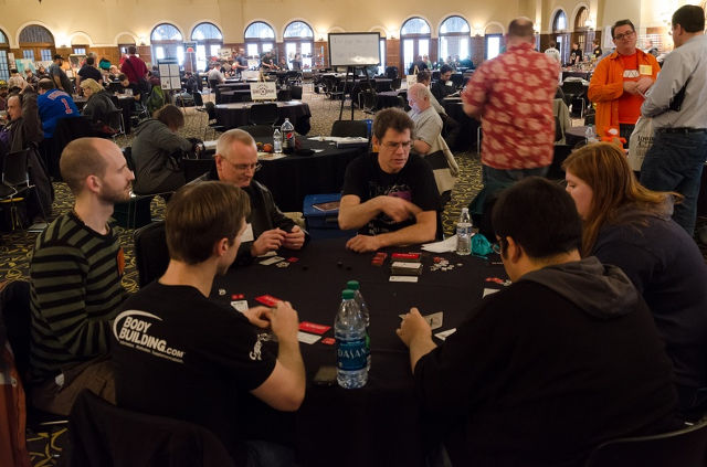 Gamicon 2014 attendees settle into a  -- photo courtesy of Gamicon