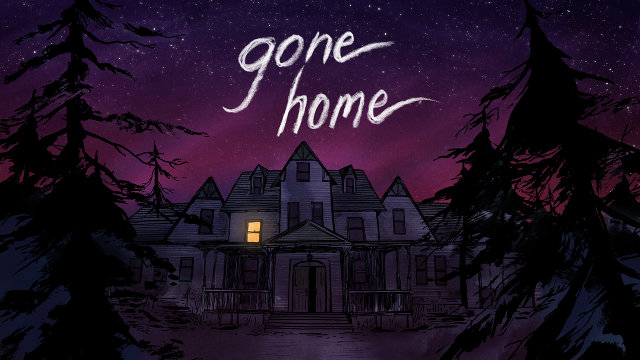"Gone Home, a first-person adventure game featuring nonlinear gameplay mechanics and a strong emphasis on atmosphere and storytelling, was named Polyon's 2013 ""Game of the Year."" -- illustration via Gone Home"