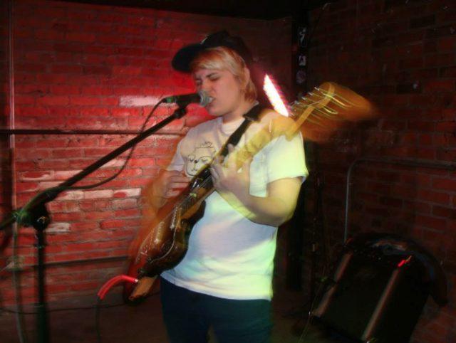 Local musician Rachel Feldman plays a performs at a recent Underground Open Mic -- photo by Megan Schroer