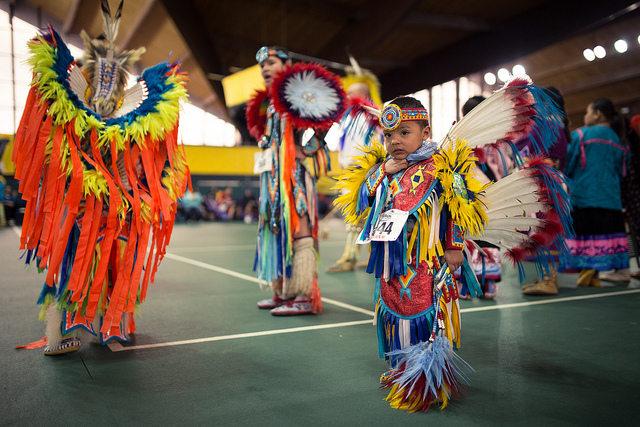 The University's 2013 powwow saw dancers of all ages. -- photo courtesy of Roukun Yi / University of Iowa