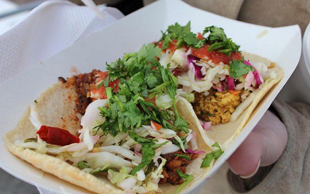 A vegan chorizo and tofu scramble taco at Tacopocalypse. -- photo courtesy of Tacopocalypse