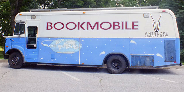 Antelope Lending Library bookmobile at City Park -- photo by Adam Burke