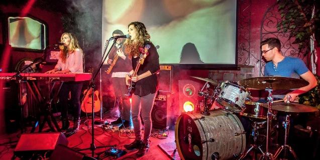 Dagmar play the Arbor earlier this year in Fairfield, IA. -- photo by Paul Delisle
