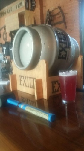 The firkin: like a keg, but sideways --image via Exile Brewing Co.