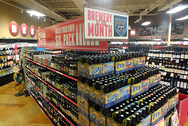 Coralville beer makers Backpocket Brewery locked up the end cap at Lucky's as a featured beer line this month  photo by Adam Burke