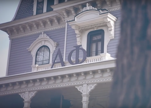 "Alpha Phi aren't exactly having a ""Perfect Day"" -- video still via YouTube"