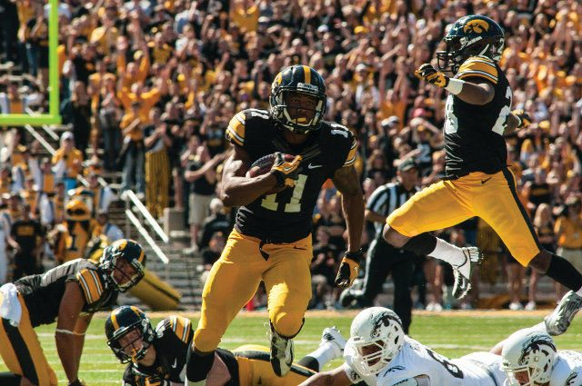 Senior Kevonte Martin-Manley led the Hawkeyes in punt return yardage last year, because he is a man-beast. — photo courtesy of the UI Athletic Communications Office