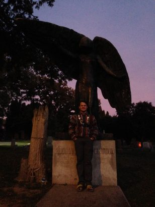 Dana T posing with Iowa City's first lady -- photo by Jessica Wynn