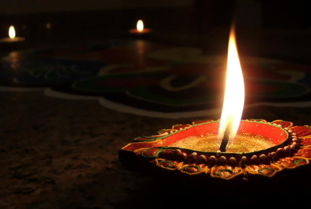 """Candle from a 2009 celebration of the """"Festival of Lights"""" -- photo by Abhinaba Basu"""