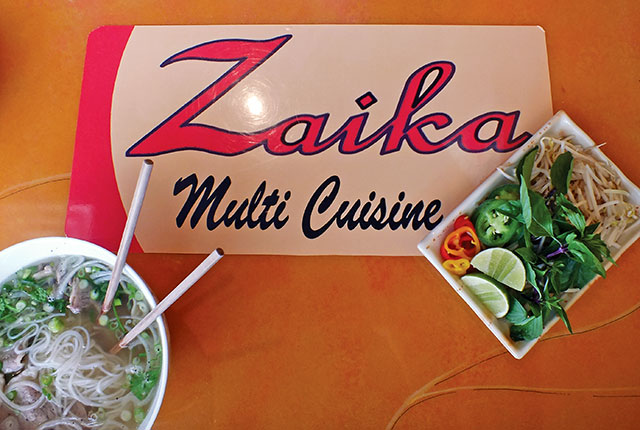 Pho Zaika - I Love Pho's traditional noodle dish and garnish now available in downtown Iowa City. -- photo by Adam Burke