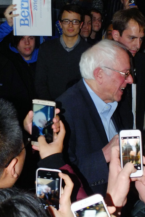 Bernie Sanders will appear in Des Moines today, Jan. 26, and Mason City tomorrow, Jan. 27 -- photo by Adam Burke