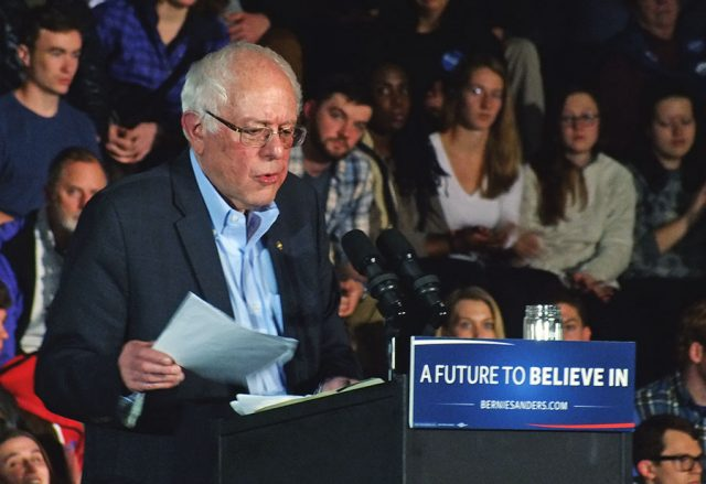 Sanders remembered the beginning of his campaign, which he said launched about nine months ago, but unofficially began when he visited Clinton County, Iowa City and spoke in Des Moines in May 2014. He would return for another three-day visit in September 2014 to Dubuque, Waterloo and Des Moines -- photo by Adam Burke