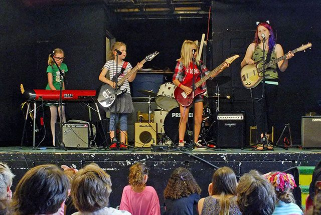 Girls Rock! camper showcase in July 2015 -- photo by Adam Burke