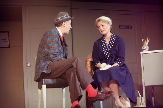 Left to right: David Morton as Elwood, Traci Rezabek as Betty; photo by Zoey Akers