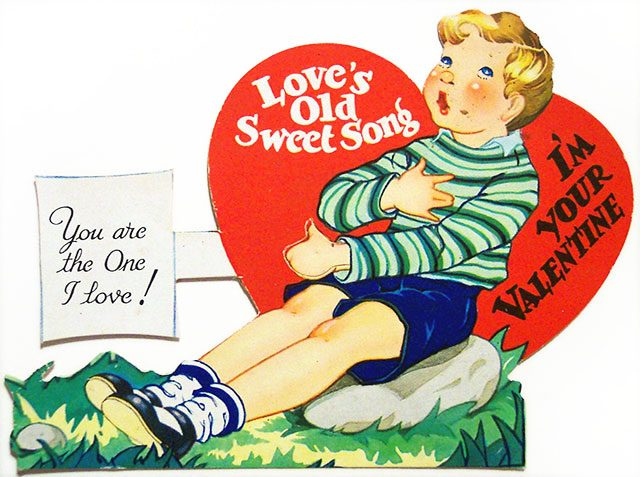Vintage Valentine card scanned by Dave