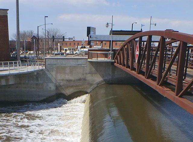 Spillway at the Iowa River Power Company Dam — photo by Adam Burke